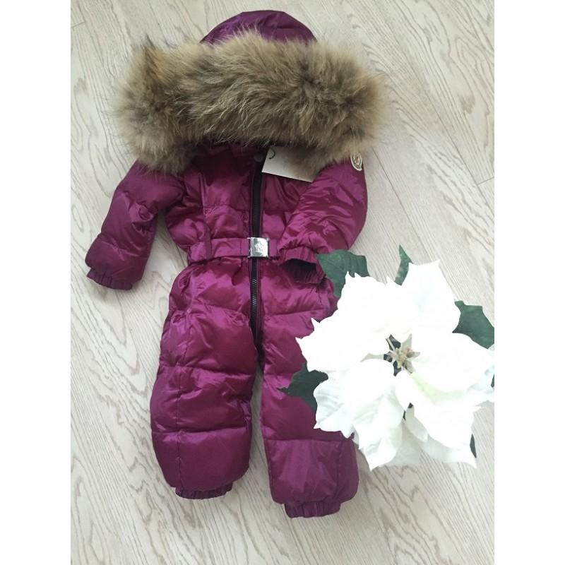 c2c5ac54ff36 Детский зимний комбинезон Moncler фиолетовый матовый купить по ...