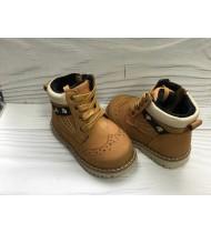 Ботинки детские для мальчика цвет бежевый