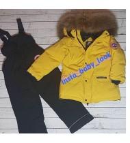 Костюм Канада Гус  цвет желтый  с черным полукомбинезоном