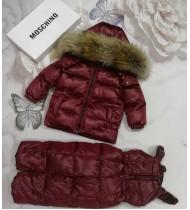 Зимний костюм Мишки Москино цвет бордовый