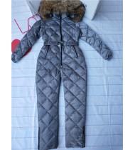 Комбинезон женский Монклер серый Pr371