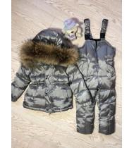 Зимний костюм Монклер цвет планитовый